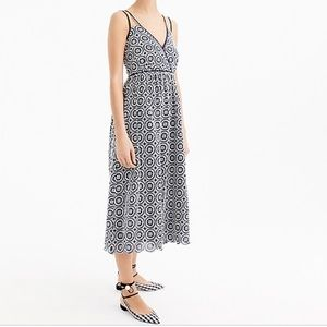 [J.Crew] Double Strap Eyelet Midi Dress
